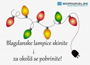 Blagdanske lampice skinite i za okoliš se pobrinite